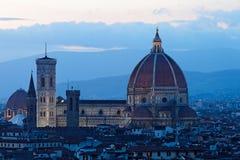 Florence vid natt Royaltyfria Foton