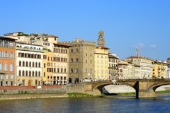Florence, view on the Arno river Royalty Free Stock Photo