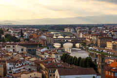 Florence View with Arno River Stock Photos