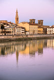 Florence, View from the Arno's river royalty free stock photo