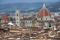 Florence, view of the cathedral Sant Maria of Fiower Stock Image