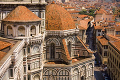 Florence view from Cathedral tower in Italy Stock Photography