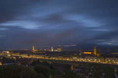 Florence, View of the City from Piazzale Michelangelo Royalty Free Stock Photo