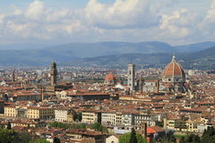 Florence - view of the city from Piazzale Michelangelo Stock Photography