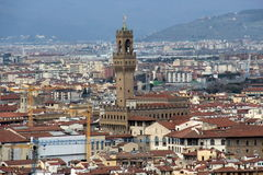 Florence, view of the common old palace Royalty Free Stock Photo