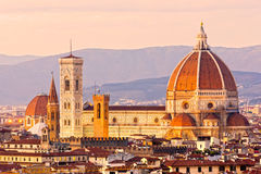 Florence, view of Duomo and Giotto's bell tower, Royalty Free Stock Photo