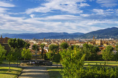Florence view from the garden of Boboli Stock Photography