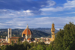 Florence view from the garden of Boboli Royalty Free Stock Images