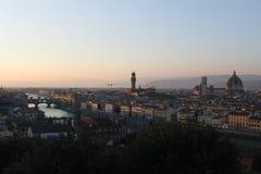 Florence View Piazzale Michaël Angelo - d'Italie image libre de droits
