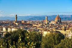 Florence, view from piazzale michelangelo. stock image