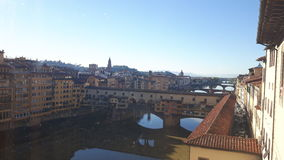 Florence. View of river and bridge in florence Stock Images