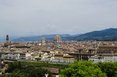 Florence view from the terrace Royalty Free Stock Images