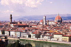 Florence vista. A vista of the city of Florence with landmarks Stock Images