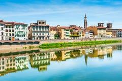 Florence Włoch rzeka arno zdjęcia stock