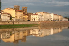 Florence Włochy arno quay rzeki Obraz Royalty Free