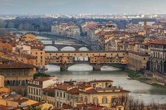 Florence Włochy lotniczego widok obraz stock