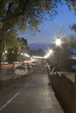 Florence waterfront at night Royalty Free Stock Photography