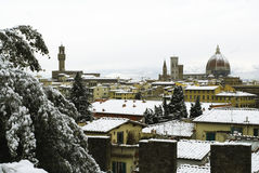 Florence at winter Royalty Free Stock Photo