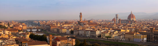 Florence panorama at surise Stock Photos