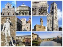 Florencia - collage foto de archivo libre de regalías