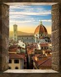 Florencia de la ventana imagen de archivo libre de regalías