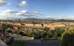 Florencia del Piazzale Miguel Ángel imagenes de archivo