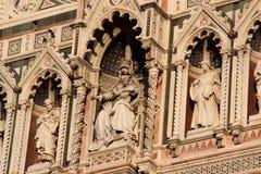 Florencia, detalle de la catedral Sant Maria de Fiower Imagen de archivo