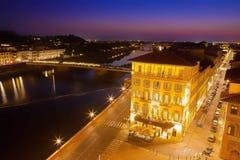 Florencia en la noche Fotos de archivo