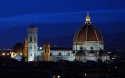 Florencia en la noche Fotografía de archivo