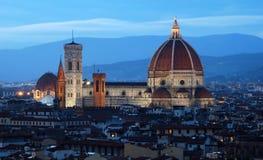 Florencia en la oscuridad Fotografía de archivo libre de regalías