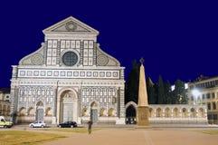 Florencia, iglesia de la novela corta de Santa María imagenes de archivo