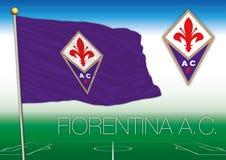 FLORENCIA, ITALIA, AÑO 2017 - campeonato del fútbol de Serie A, bandera 2017 del equipo de Fiorentina