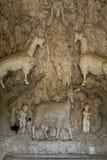 Florencia, Italia - 23 de abril de 2018: Opinión interior Grotta di Madama Foto de archivo