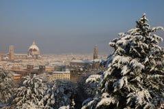 Florencia Italia en invierno Imagen de archivo libre de regalías
