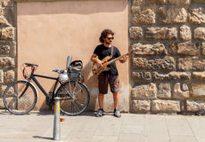 Florencia Músico de la calle Fotos de archivo libres de regalías