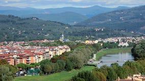 Florencia Panorama de la ciudad vieja en Italia metrajes