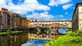 Florencia, Ponte Vecchio (Toscana, Italia) Foto de archivo libre de regalías