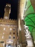 Florencia por noche foto de archivo