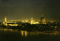 Florencia por noche Imagen de archivo
