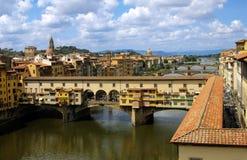 Florencia. Puente Ponte Vecchio Imagenes de archivo