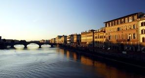Florencia - puesta del sol Fotografía de archivo libre de regalías