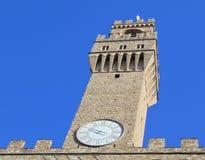 Florencia Toscana Italia Torre de Arnolfo en Palazzo Vecchio fotos de archivo