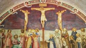 Florencia - vídeo ilustrativo de la crucifixión y de los santos de Beato Agelico metrajes