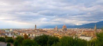 Florencia. Visión desde arriba. Panorama. imagen de archivo