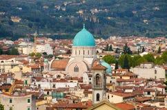 Florencia. Visión superior, sinagoga imagen de archivo