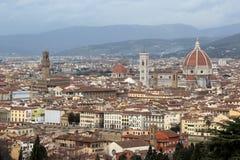 Florencia, vista de la catedral y del palacio viejo Imagenes de archivo