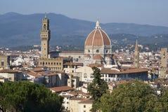 Florencia Vista de la ciudad de las colinas fotografía de archivo libre de regalías