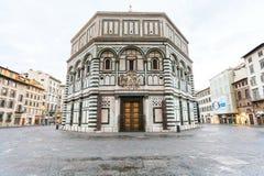 Florencja Baptistery święty John w ranku Fotografia Royalty Free