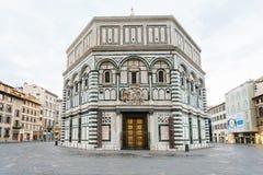 Florencja Baptistery San Giovanni w ranku Zdjęcie Stock