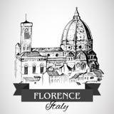 Florencja Duomo - Florencja katedra royalty ilustracja